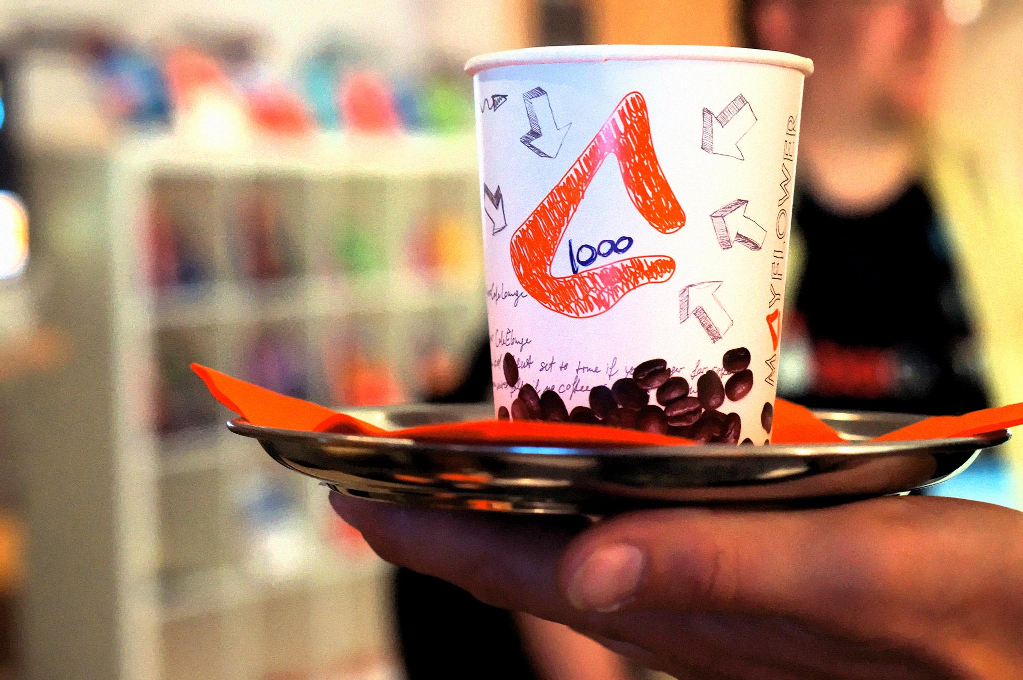 Foto vom Kaffee, Nummer 1000