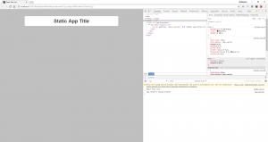 Anzeige des statischen Applikationstitels