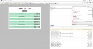 Die Buttons zum Löschen und Umpriorisieren unserer Task-Items